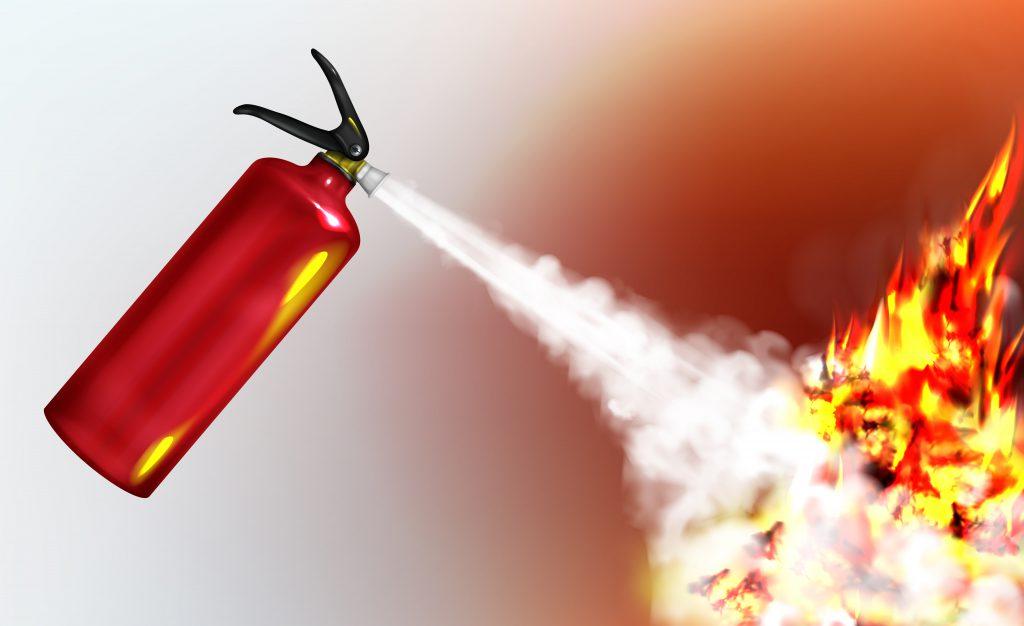 Extintor para fuego