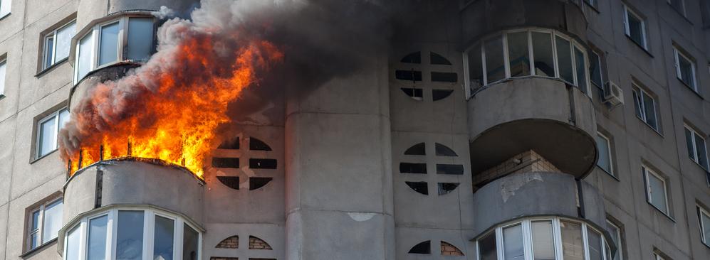 incendio dentro de una vivienda