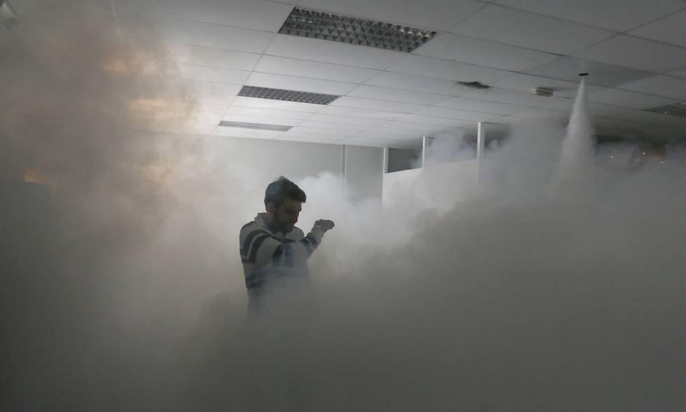 Sistema de seguridad de niebla o humo